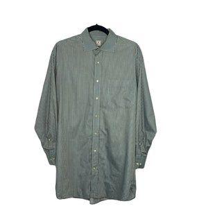Peter Millar Button Front Shirt Striped LS Cotton